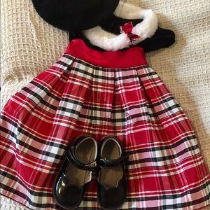 NWOT Red, Black & White Plaid Christmas Dress